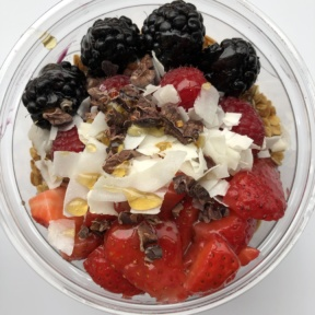 Acai bowl with GF granola from Seeds
