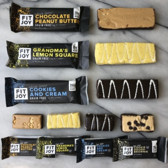 Gluten-free grain-free bars by FitJoy
