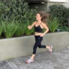 Jackie running in Los Angeles