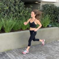 Jackie running in Los Angeles