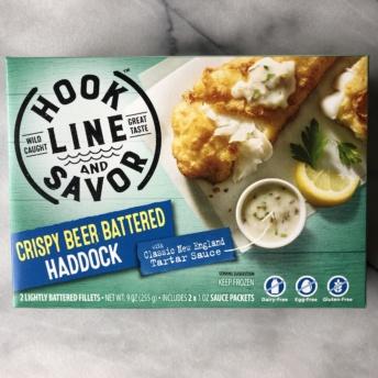 Crispy beer battered haddock by Hook Line and Savor