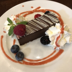 Flourless chocolate torte from Novo