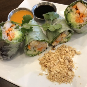 Avocado shrimp spring rolls from Novo