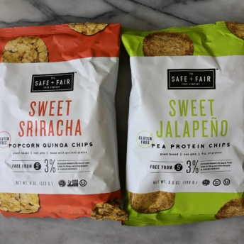 Gluten-free protein chips by Safe + Fair