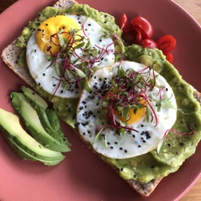 Gluten-free avocado toast from Ojo de Agua