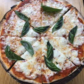 Gluten-free Margherita pizza from Rocco & Simona