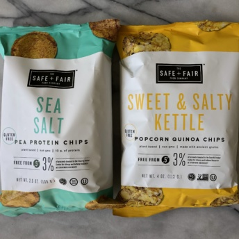 Quinoa and protein chips by Safe + Fair