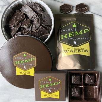 CBD-infused chocolate by Laura's Mercantile