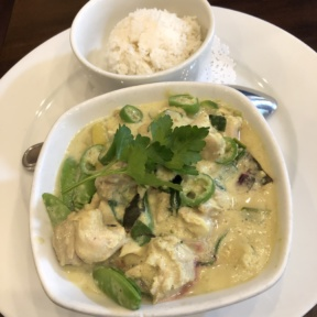 Thai green chicken curry from Novo