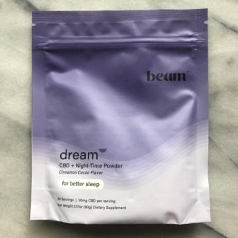Gluten-free CBD + night-time powder by Beam