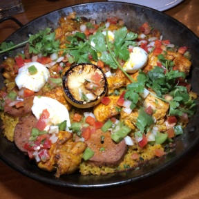 Gluten-free paella from Luna Red