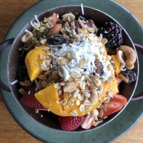 Gluten-free acai bowl from Ojo de Agua