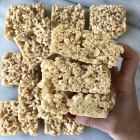 Stack of gluten-free Marshmallow Treats