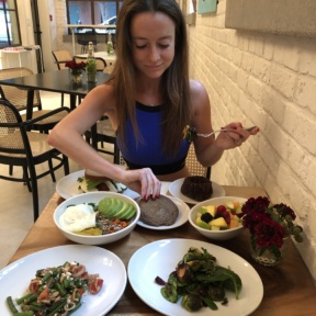 Jackie eating at Nourish
