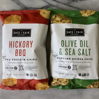 Pea protein chips by Safe + Fair