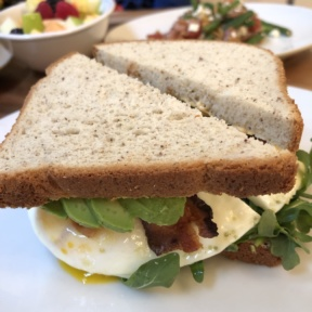 Egg sandwich from Nourish