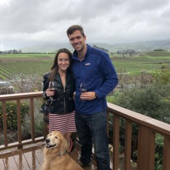 Jackie and Brendan at Wolff Vineyards in San Luis Obispo