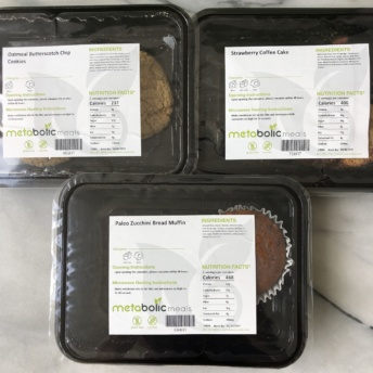 Gluten-free cookies, muffin, and coffee cake from Metabolic Meals
