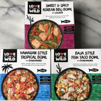 Gluten-free non-GMO seafood bowls from Love The Wild
