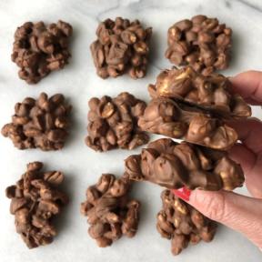 Gluten-free dairy-free Chocolate Peanut Clusters