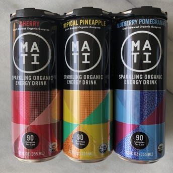 Sparkling organic energy drink by MATI