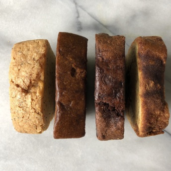 Four types of sweet breads from Outrageous Baking