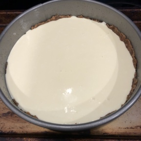 Snickerdoodle Cheesecake ready for the oven