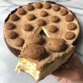 Eating gluten-free Snickerdoodle Cheesecake