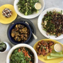 Gluten-free lunch from Cafe Gratitude