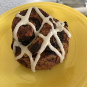 Gluten-free cinnamon roll from Cafe Gratitude