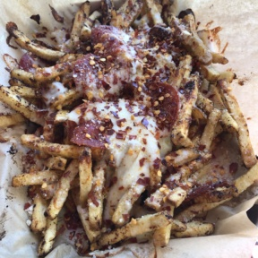 Pizza fries from Fry Madness