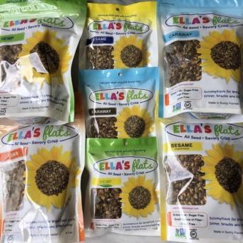 Certified gluten-free all seed savory crisps by Ella's Flats
