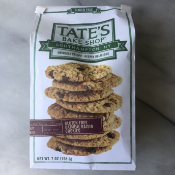 Gluten-free oatmeal raisin cookies by Tate's Bake Shop
