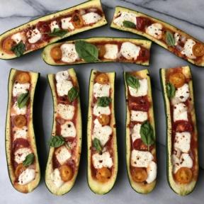 Gluten-free Zucchini Pizza Boats