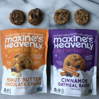 Gluten-free vegan cookies by Maxine's Heavenly