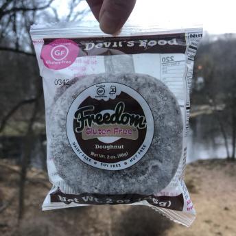 Gluten-free devil's food donut from Freedom Gluten Free
