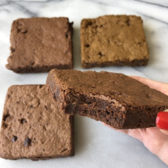 Eating gluten-free brownies by Jungle Treats