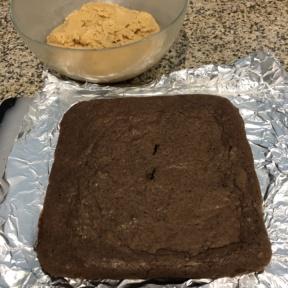 Making gluten-free Buckeye Brownies