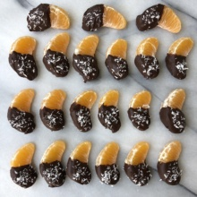 Chocolate Dipped Clementine Slices
