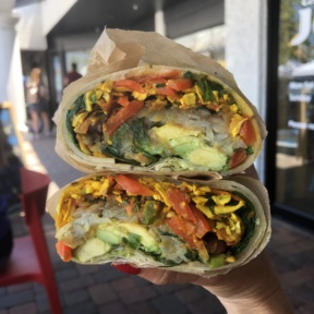 Gluten-free breakfast burrito from JOi Cafe