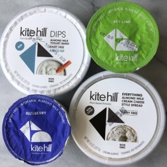 Gluten-free dairy-free yogurts, dips, cream cheese by Kite Hill