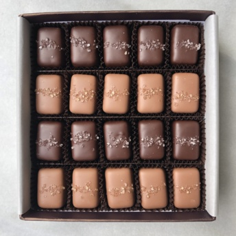 Box of gluten-free chocolates by Fran's Chocolates