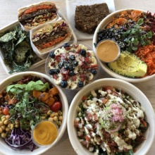 Gluten-free lunch from Vibe Organic Kitchen