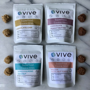 Gluten-free vegan superfood cookie bites by Vive