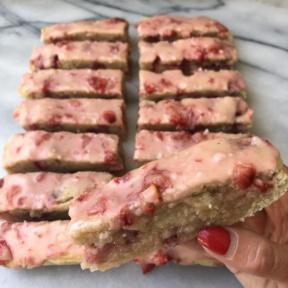 Dairy-free Strawberry Cake Bars
