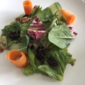Green salad from Le Blanc Room Service