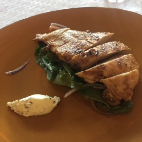 Gluten-free chicken from Mezze