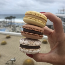 Gluten-free macarons from Blanc Cafe