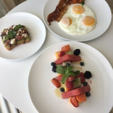 Gluten-free breakfast from Le Blanc Room Service