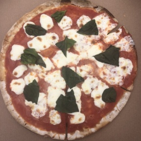 Gluten-free Margherita pizza from Blanc Pizza